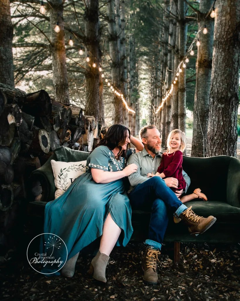 Family of 3 Portraits at Country Cove Farm