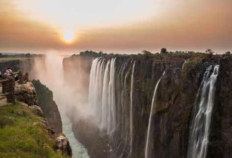 Victoria Falls, Border of Zambia and Zimbabwe