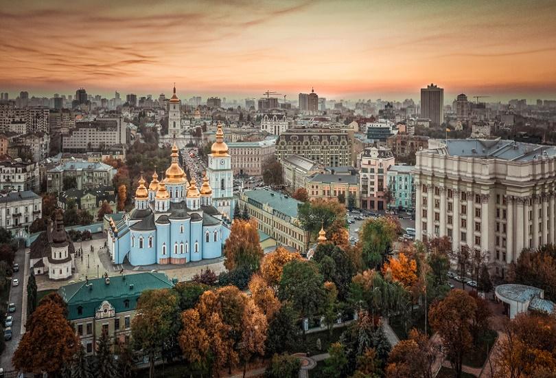 Autumn view of Kiev