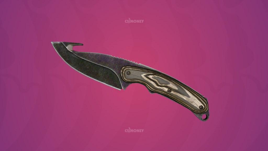 нож с лезвием-крюком черный глянец