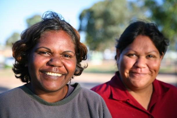 two smiling aboriginal women