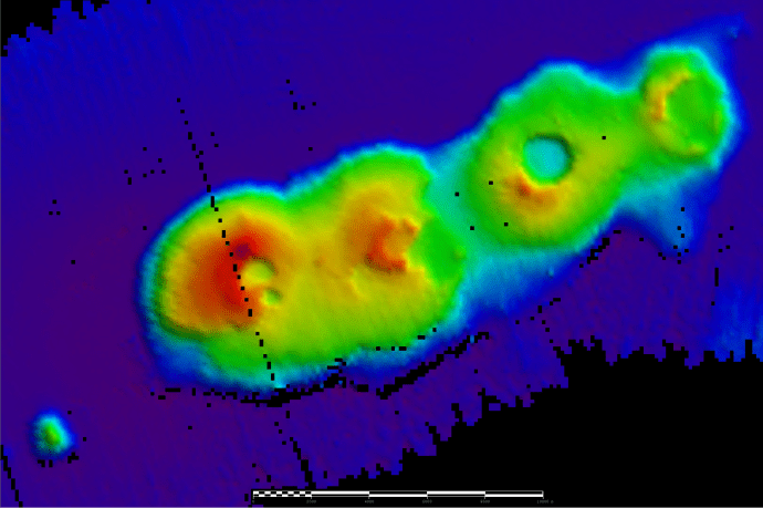 RV Investigator discovers a 50 million year old volcano cluster off the coast of Sydney