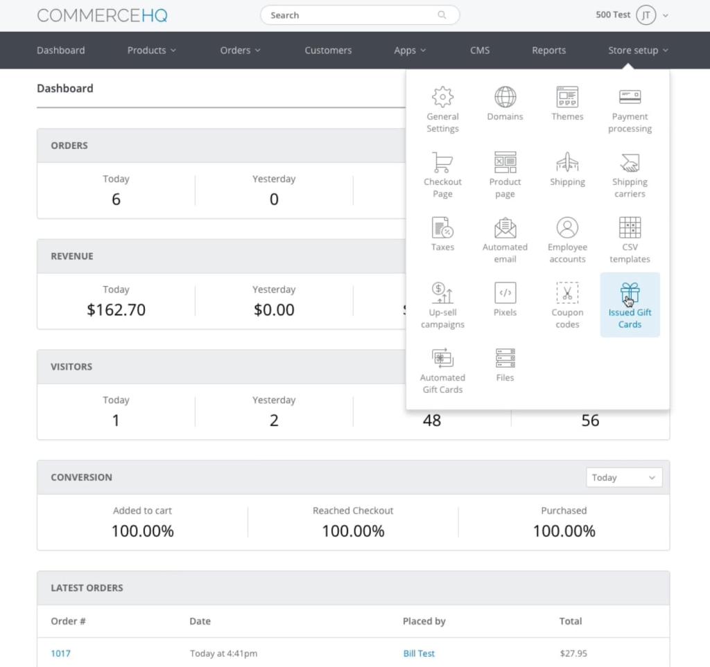 commercehq features