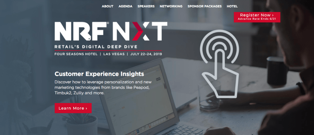 NRF NXT CONFERENCE FLYER