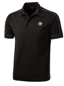 Performance Textured Three-Button Polo Mockup