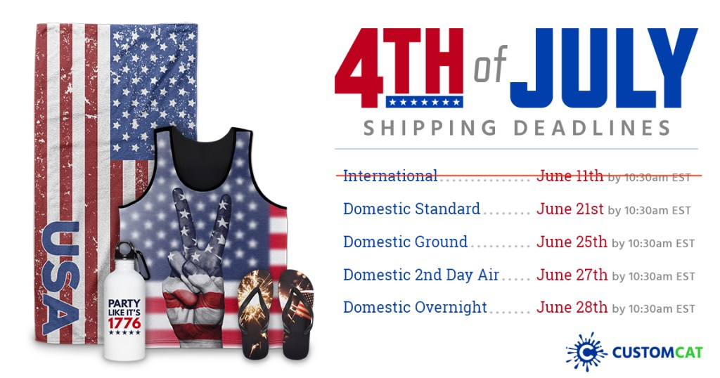 Independence Day Shipping Deadlines