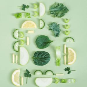 sliced fruits and veggies