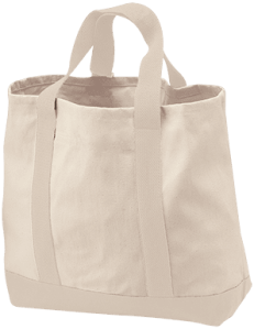 B400 Port & Co. 2-Tone Shopping Tote