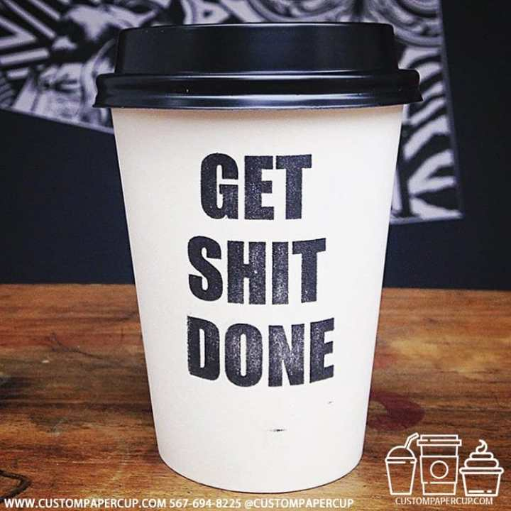 get shit done quote coffee cup