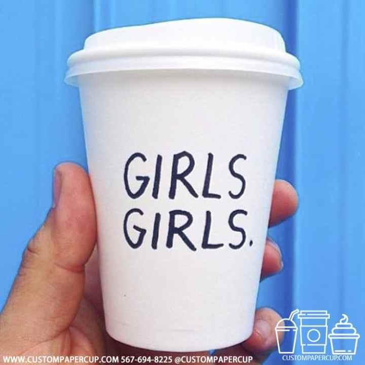 girlsgirls typed coffee cup