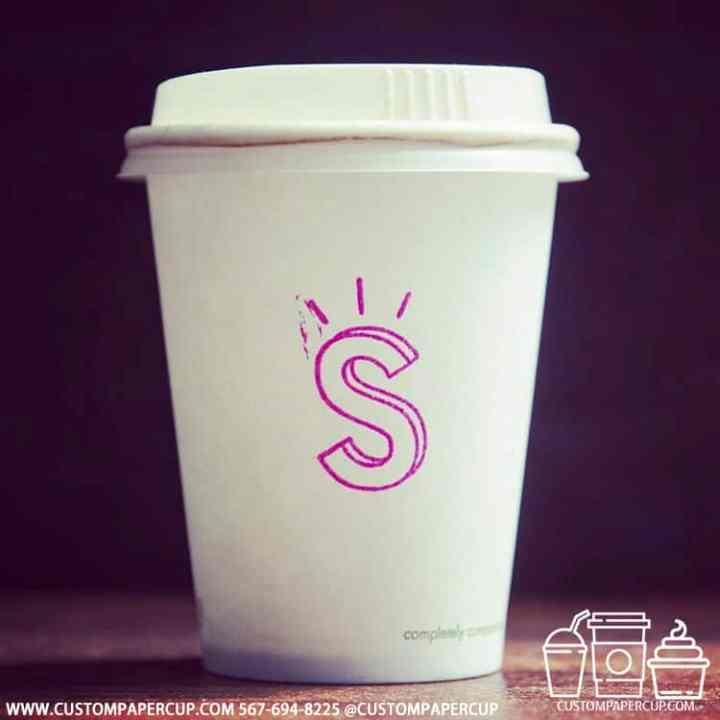 pink letter custom logo cup design
