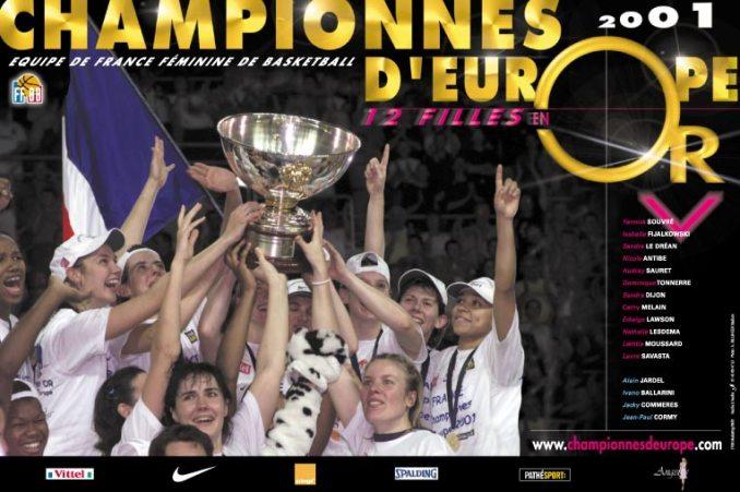 Les basketteuses françaises, championnes d'Europe 2001