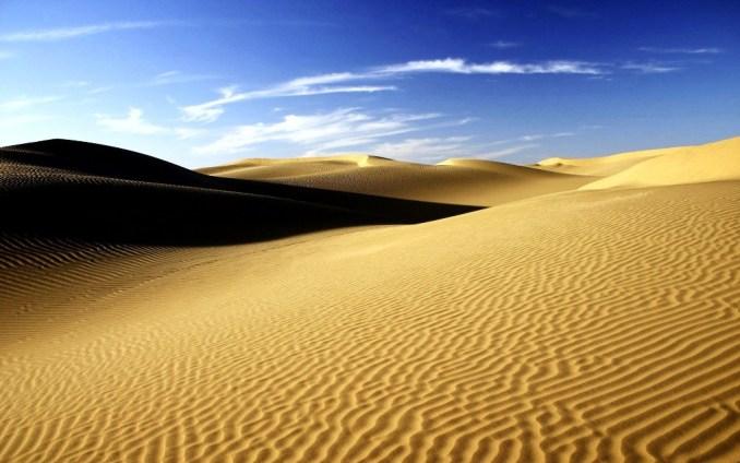 Le désert...