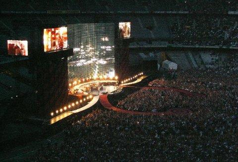 Vue générale de la scène au stade de France