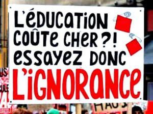 L'éducation coûte cher ? Essayez donc l'ignorance...