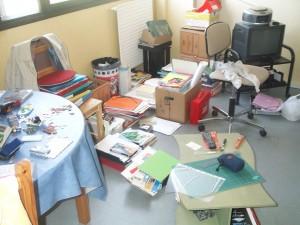 Le bordel de mon salon, il y a quelques années...