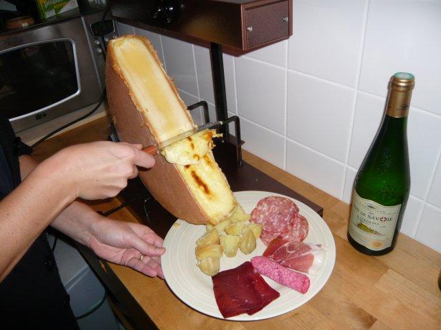 La raclette, ça se racle.
