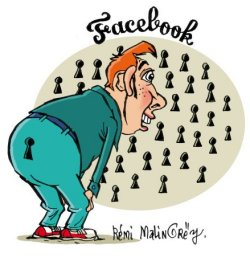 Facebook, sous le crayon de Rémy Malingrey
