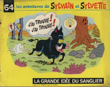 """Le sanglier dans """"Sylvain et Sylvette"""""""