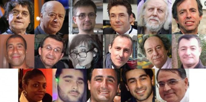 Les 17 victimes des attaques des 7, 8 et 9 janvier