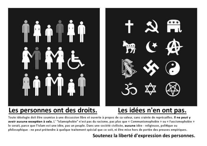 Les personnes ont des droits. Les idées n'en ont pas.
