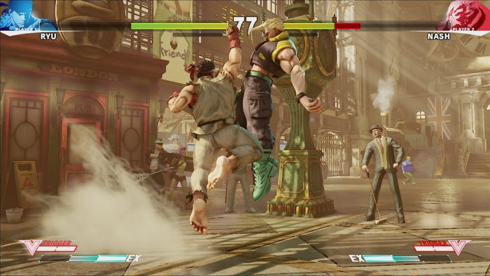 Story mode on street fighter V while played on gaming laptop