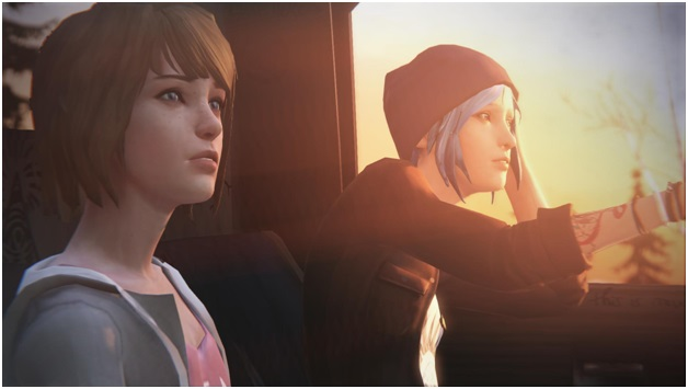 Chloe and Max Main Character in Life is Strange game for gaming pc