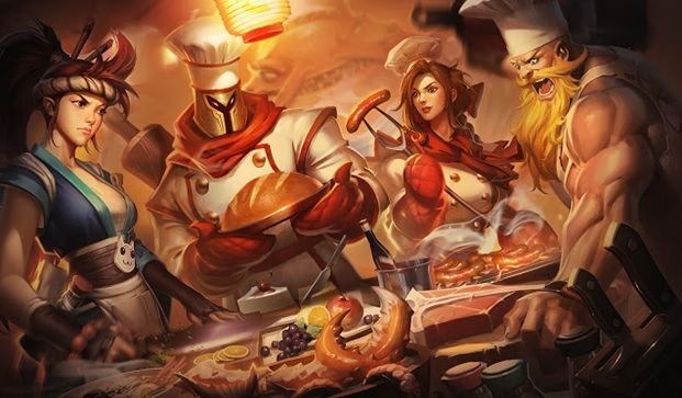 League Chef-Inspired Skins on your pc