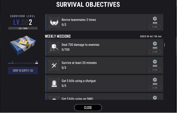 PUBG Survival Objectives