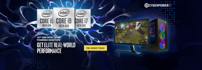 A promotion of an Intel 10th Gen PC