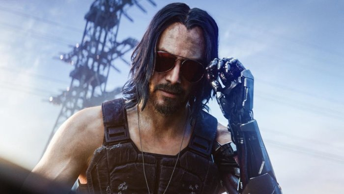 Keanu Reeves character in Cyberpunk 2077
