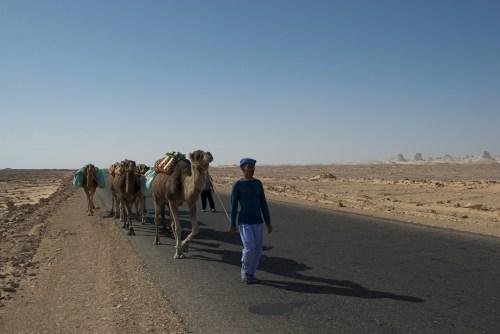 La route traversant le Black Desert, Egypte (2009)
