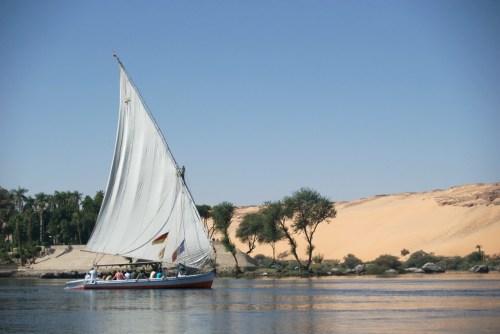Une félouque sur le Nil à Assouan @ Assouan, Egypte