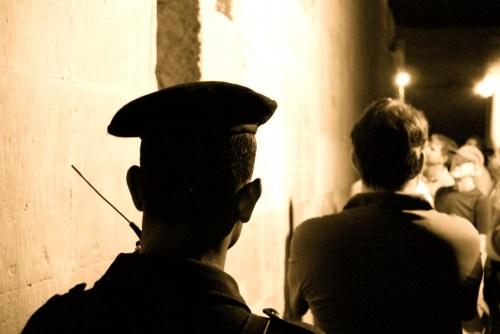 Gardien au Temple de Kôm Ombo @ Kôm Ombo - Egypte