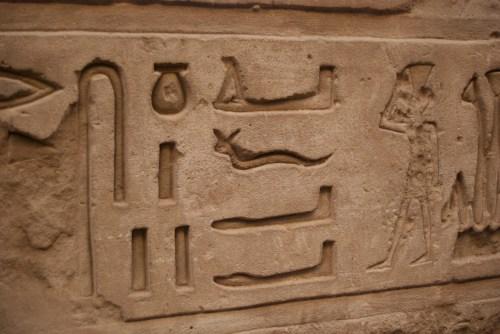 Hiéroglyphe @ Edfu, Egypte (2009)