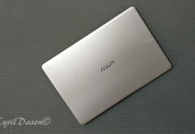 ASUS VivoBook S from the top