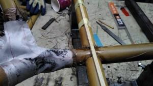 Befestigungsrohre für die Bodenplatte