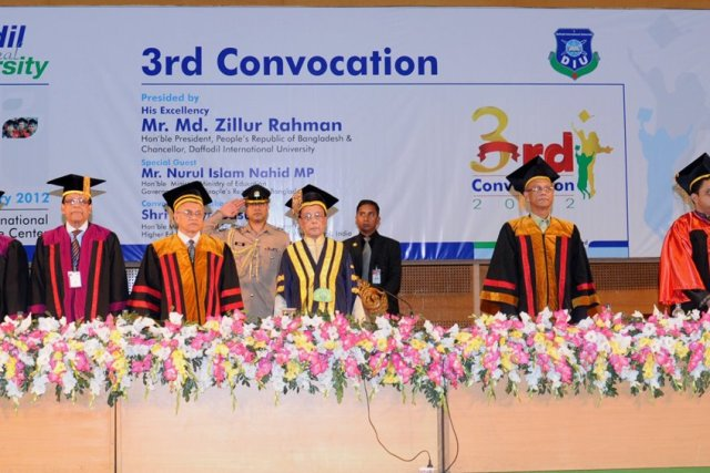 3rd Convocation of Daffodil International University, 26 February 2012