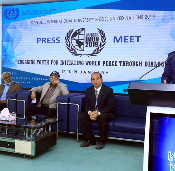 3-day conference of Daffodil International Model UN Conference 2019