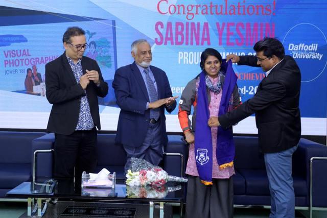 "Our Alumnus Ms. Sabina Yasmin has received ""Meena Award"