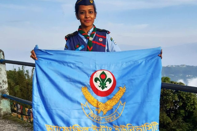 Rover-Mate of Girls in Scout of  DIU has participated at Study Tour in India