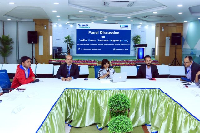 HRDI of DIU Organized a Panel Discussion on Applied Career Placement Program