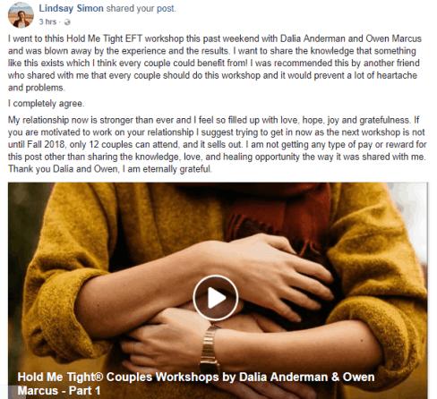 Hold Me Tight Workshop-Testimonial