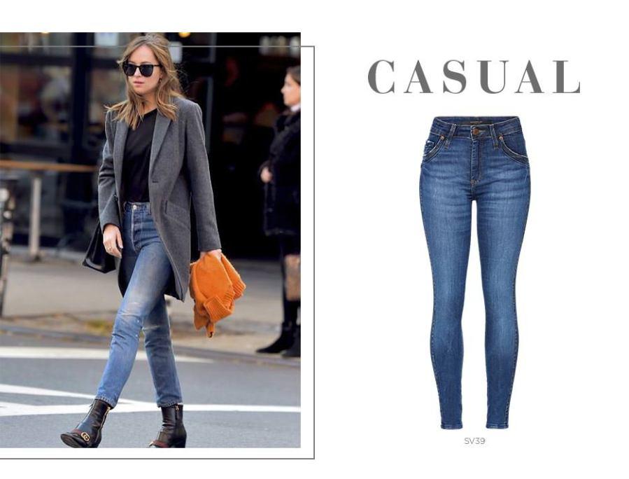 Blazer e jeans para um look casual