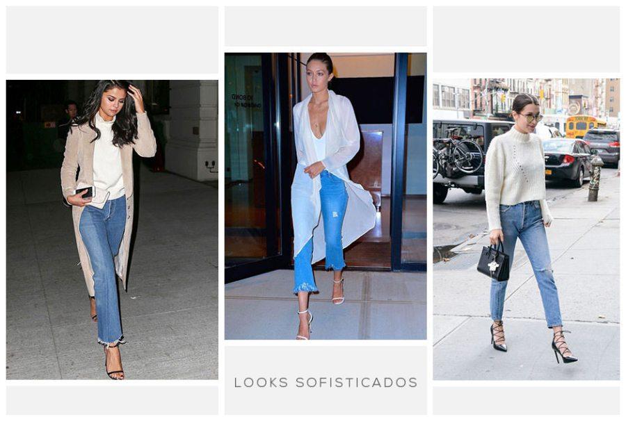 Looks sofisticados com calça cropped jeans