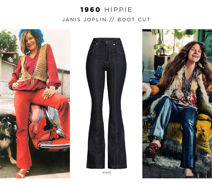 jeans flare anos 60 - Hippie