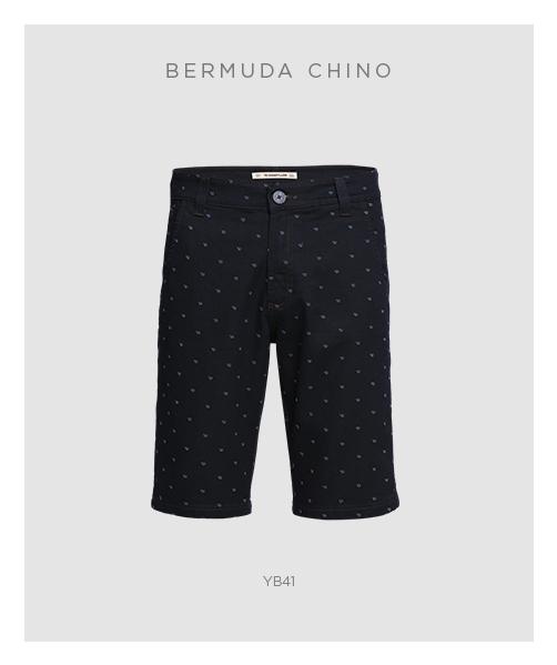 Peças masculinas essenciais - Bermuda chino