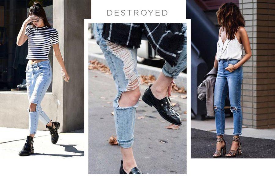 Como customizar rasgando a calça jeans