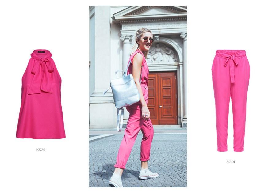 como usar look todo pink