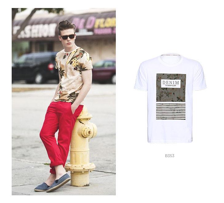 camiseta floral masculina verao 2018